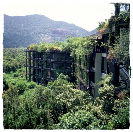Cliff-side Kandalama Hotel (Aitken Spence), a Bawa design in central Sri Lanka