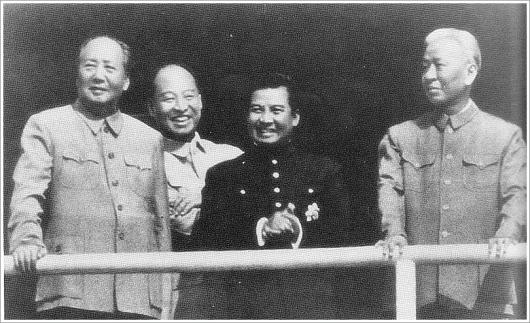 Mao-Peng Zhen-Sihanouk-Liu Shaoqi in 1956--credit US Army